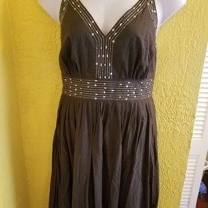 Lane Bryant Brown Sun Dress PLUS Size 1X 16